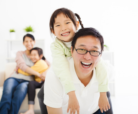33970602 - happy family in the living room
