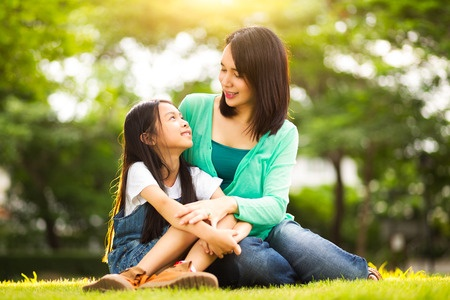 39649460 - happy young mother with her daughter at park