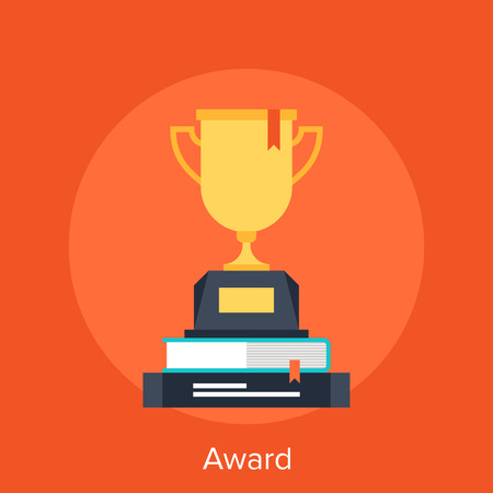 40258932 - abstract vector illustration of award flat design concept.