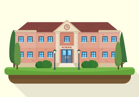48776513 - school and education. buildings for city construction. set of elements to create urban background, village and town landscape.  flat style vector illustration.