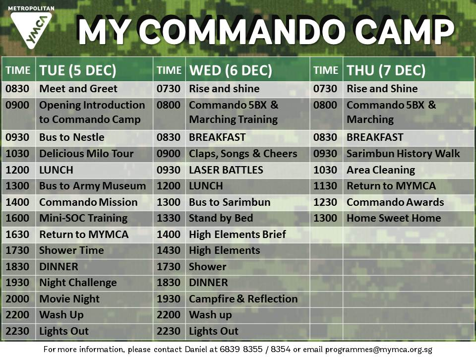 Commando_Camp_ITINERARY