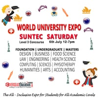 World University Expo @ Suntec - Saturday, 6 July 2019 @ Suntec Singapore Convention & Exhibition Centre | Singapore | Singapore