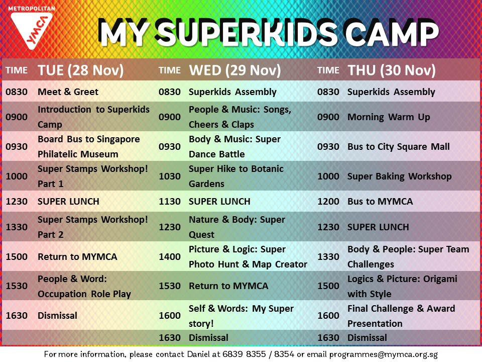 Superkids_Camp_ITINERARY