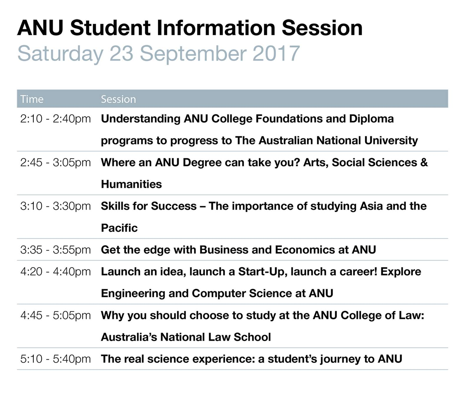 ANU session