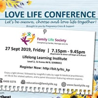 Love Life Conference @ Lifelong Learning Institute | Singapore | Singapore
