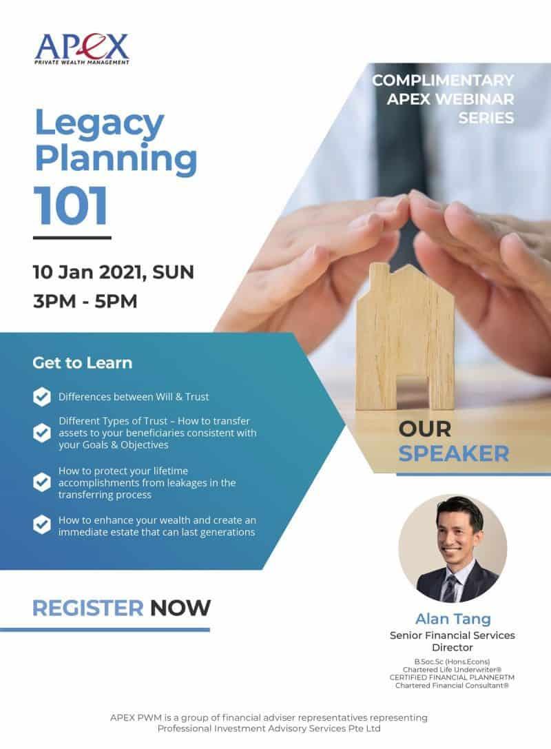 APEX WEBINAR SERIES - Legacy Planning 101 (10/01/2021)