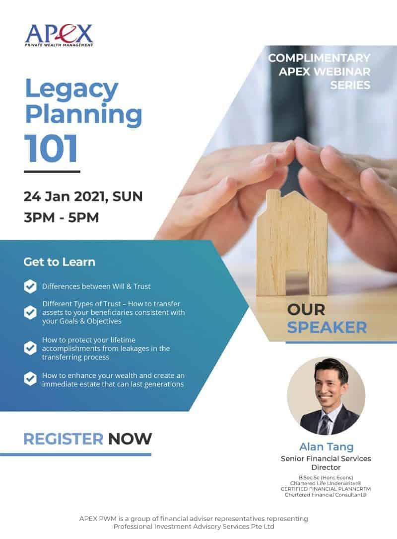 APEX WEBINAR SERIES - Legacy Planning 101 (24/01/2021)