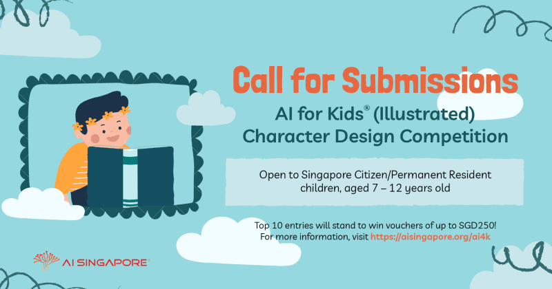 AI for Kids (Illustrated) Character Design Competition