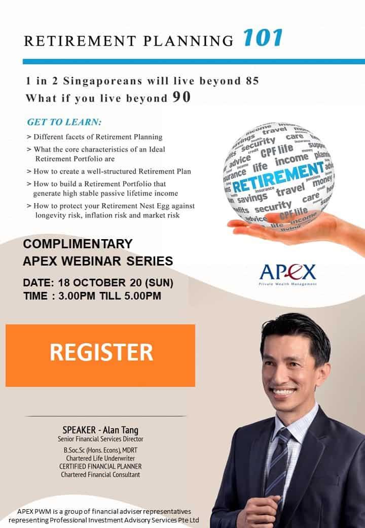 APEX WEBINAR SERIES - Retirement Planning 101 (18/10)