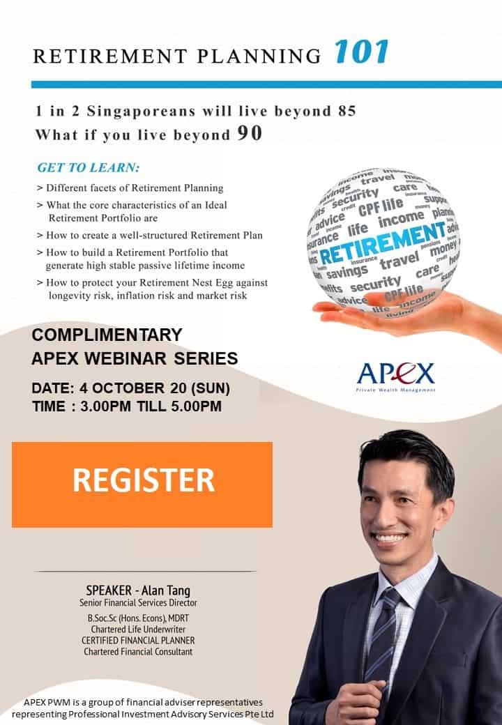 APEX WEBINAR SERIES - Retirement Planning 101 (4/10)