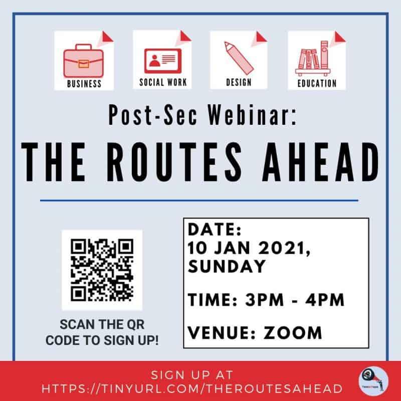 Post-Sec Webinar : The Routes Ahead