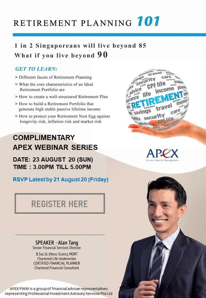 APEX WEBINAR SERIES - Retirement Planning 101 (23/8)