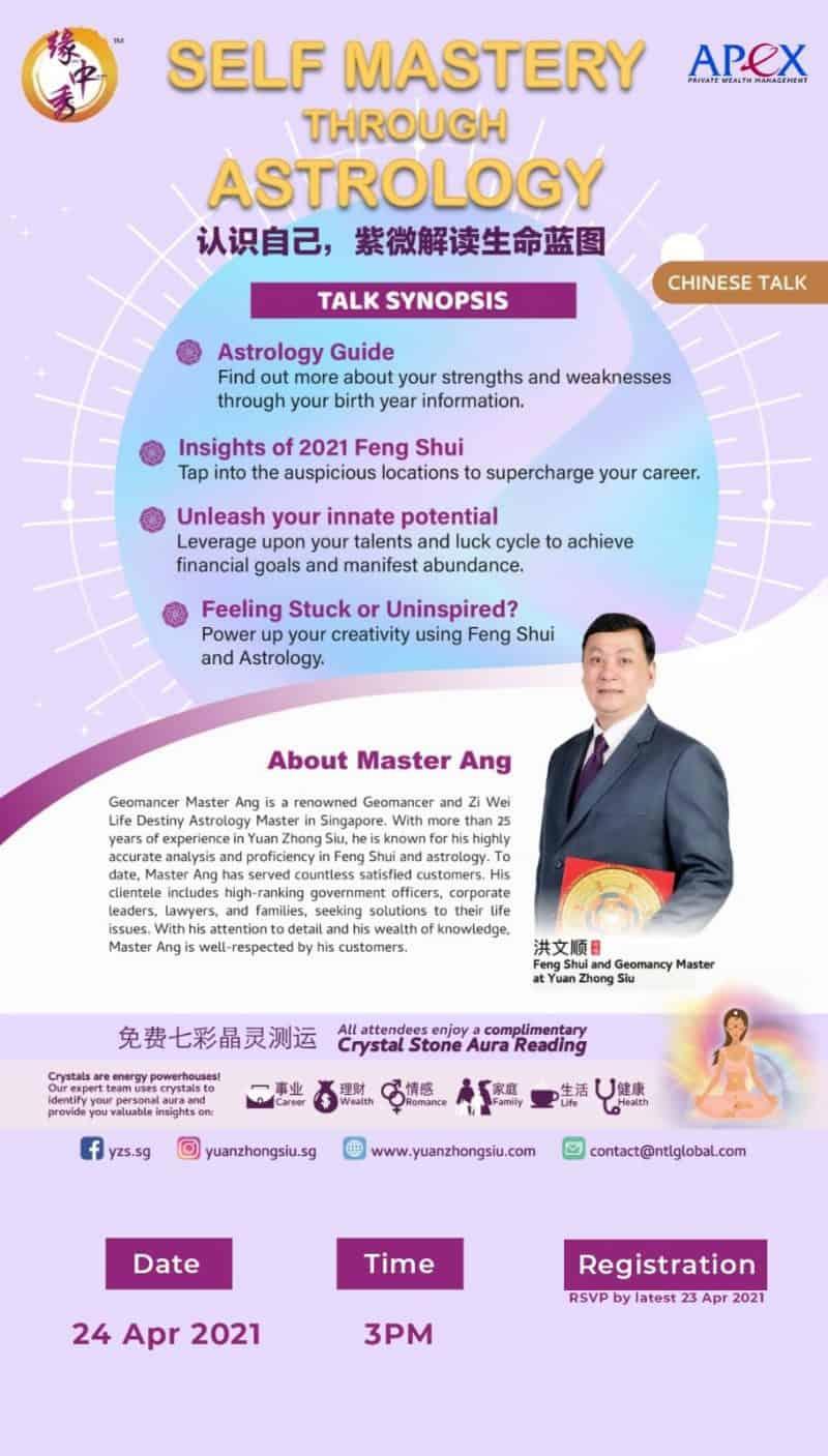 Apex Webinar - Self Mastery Through Astrology (24/4/2021)