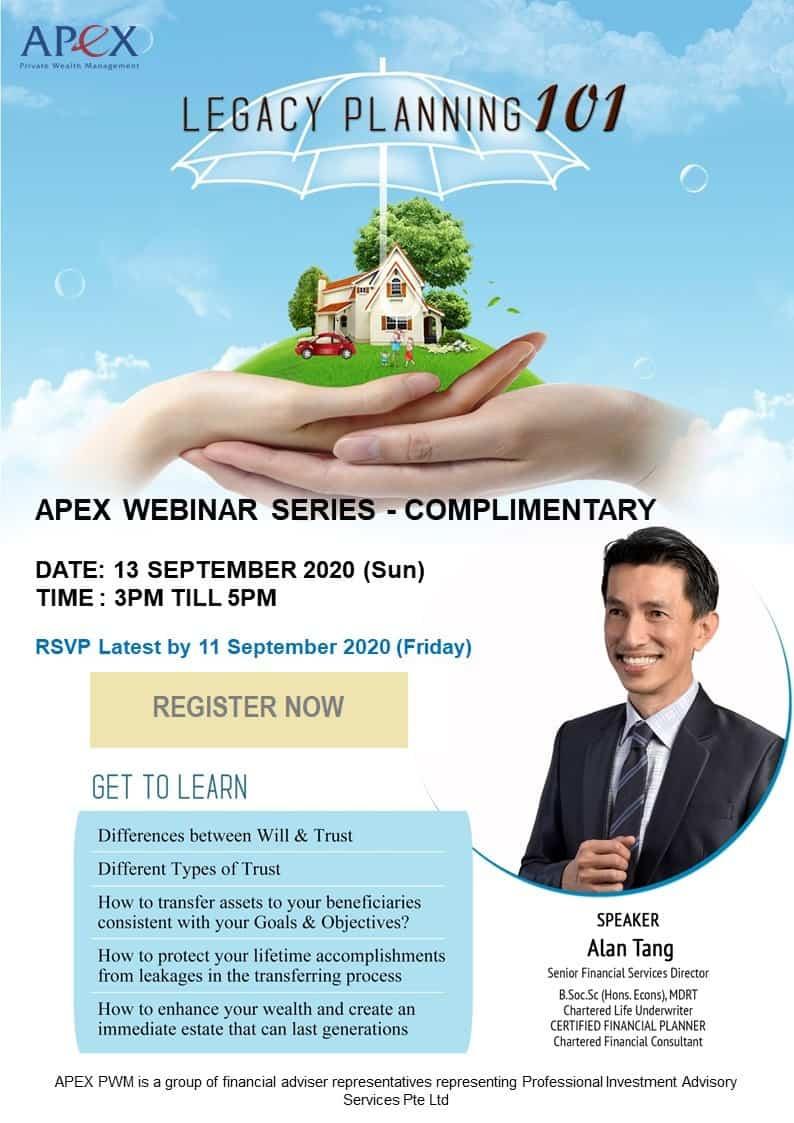APEX WEBINAR SERIES - Legacy Planning 101 (11/10)