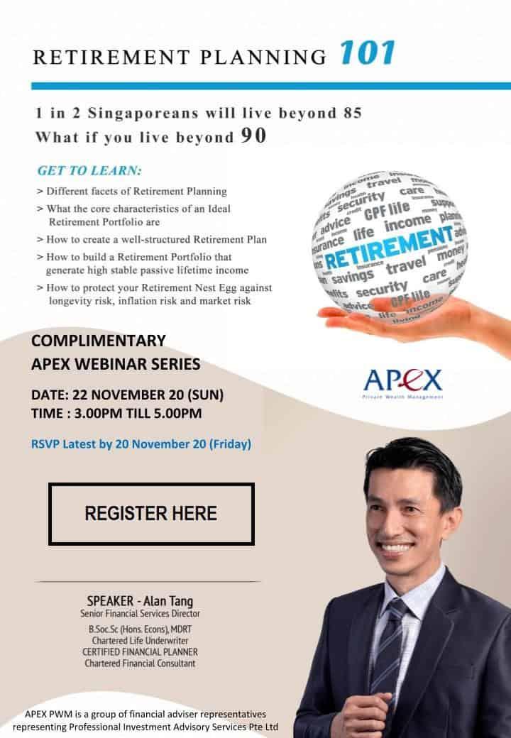 APEX WEBINAR SERIES - Retirement Planning 101 (22/11)