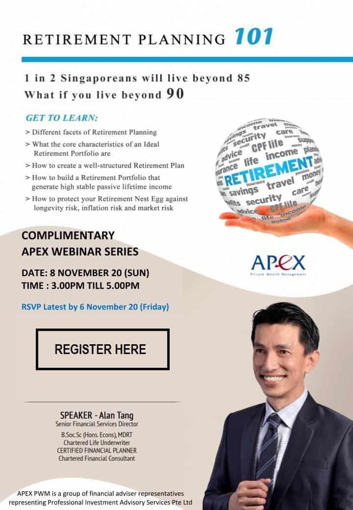 APEX WEBINAR SERIES - Retirement Planning 101 (8/11)