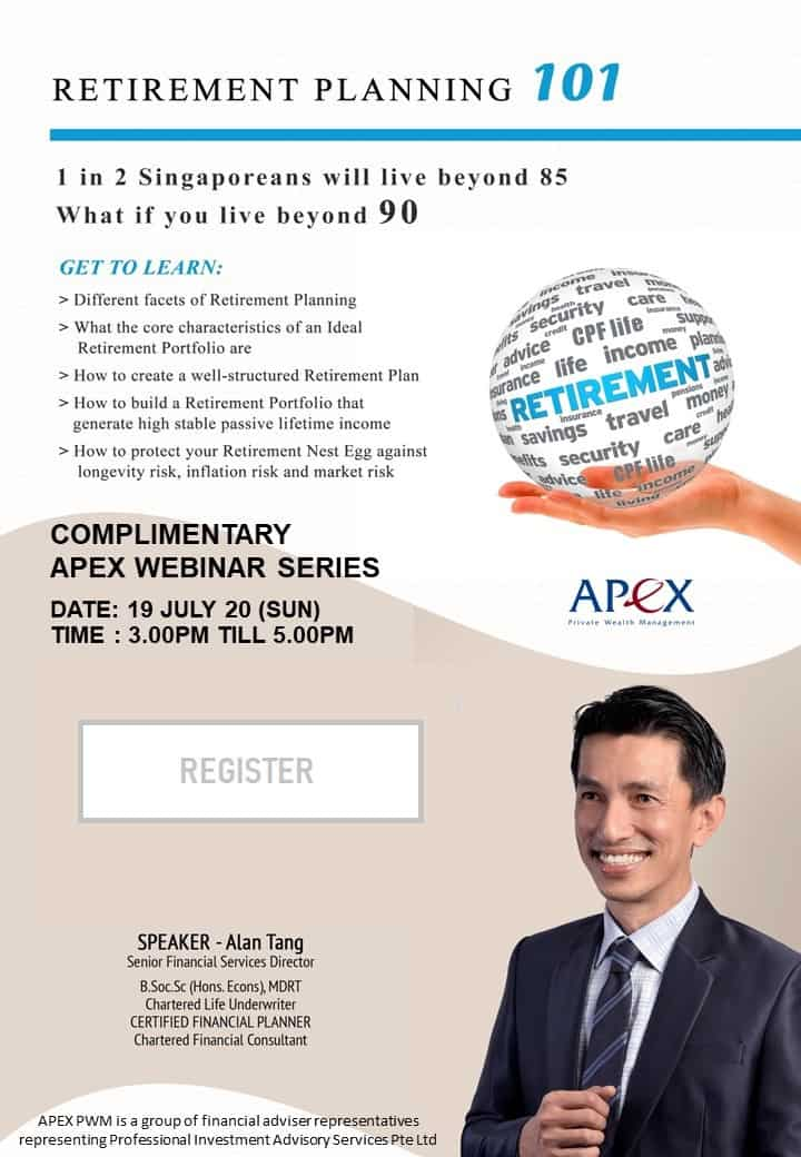 APEX WEBINAR SERIES - Retirement 101 (19/7)