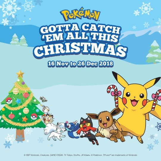 Gotta Catch 'Em All This Christmas @ Jurong Point