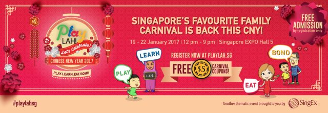 PlayLAH! Let's Celebrate Chinese New Year 2017 @ Singapore EXPO Hall 5 | Singapore | 0