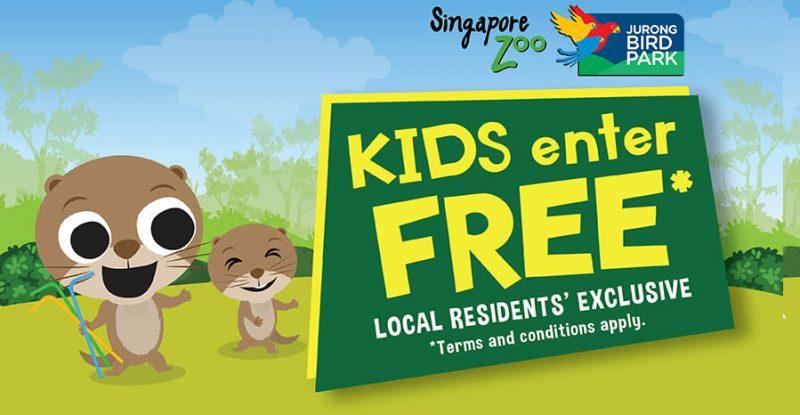 Kids Enter Free in October 2019 @ Singapore Zoo & Jurong Bird Park