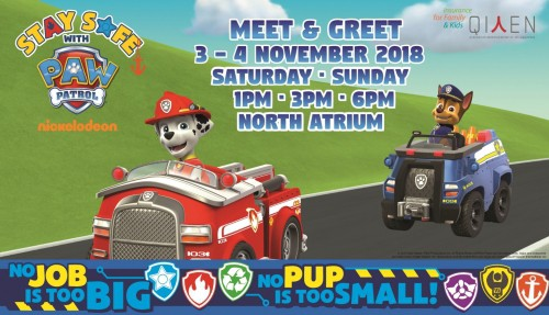 Stay Safe with Paw Patrol Roadshow @ Suntec City, North Atrium | Singapore | Singapore